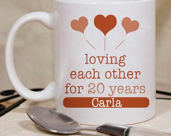 Loving Each Other For 20 Years Beautiful Personalized  Mug