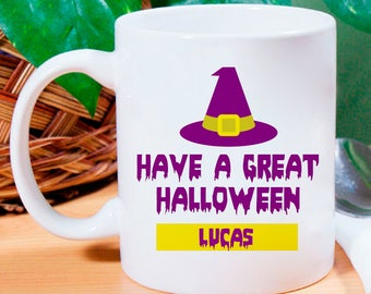 Have A Great Halloween Personalized Mug With Name Printed On It