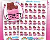 36 Cute Chocolate/Food Planner Stickers, Filofax, Erin Condren, Happy Planner,  Kawaii, Cute Sticker, UK