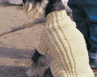 Dog Coat, Cable Knit, Knitting Pattern. PDF Instant Download.