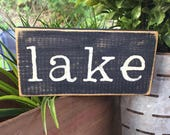 Lake house sign, wood lake sign, Rustic  Sign, Home Decor, Rustic Home Decor, Country Home Decor