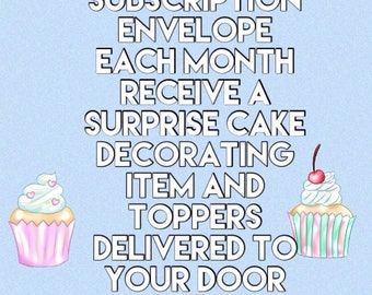 Cake decorating subscription,baking,cake decorating,cake decorator, cake, cupcake, gift, present,subscription box,cake gift,cake present