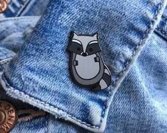 Baby Raccoon Enamel Pin, Grey Raccoon Enamel Pin, Raccoon Enamel Pin, Raccoon Pin, Raccoon Lapel Pin, Raccoon Enamel Pin, Woodland Animal