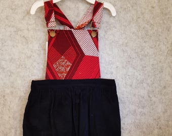 Pepperberry Girls Pinafore - Toddler Dress - Girl Toddler Dress - Girls Clothing - Overall Dress - Size 2