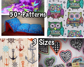 Novelty Pillow Bed - Pillow Mattress for Boys & Girls - 3 Sizes - 50+ Pattern Choices