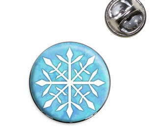 Snowflake Lapel Hat Tie Pin Tack