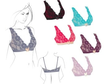 Sewing Pattern and Sewing Guide - Wire free bralette