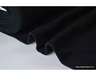 tissu polaire noir polyester par 50cm