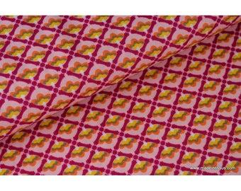 Tissu popeline coton imprimé dessin Mango2780 rose x50cm