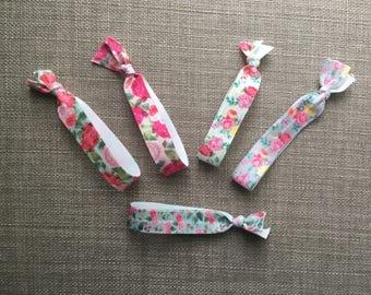 Toddler hair tie bracelets / floral / elastic / bracelt / hair tie