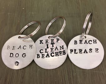 Handstamped ID Tags and Charms