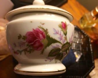 Vintage Porcelain Glass Box Trinket Box
