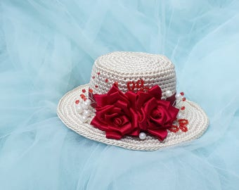 Charming Rose Hat for SD BJD