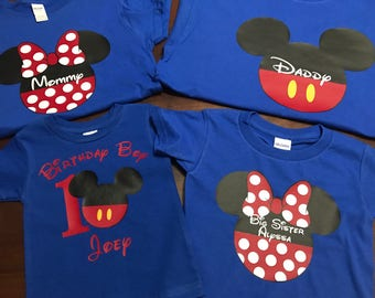 Mickey Mouse Minnie Mouse Disney Family Shirts