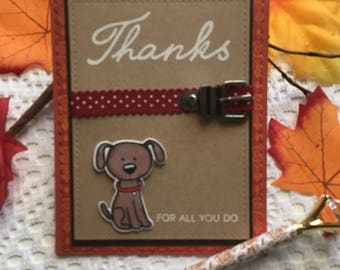 Thanks For All You Do Card Dog Thank You  Card for Dog Walker Thank you Card For Vet