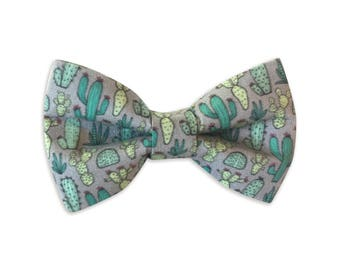 Cactus Bowtie, Dog Collar Bow Tie, Dog Bow Tie, Collar bow tie, bow tie for collar, bow tie for collar, hidden strap