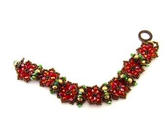 Beautiful Poinsettia Bracelet