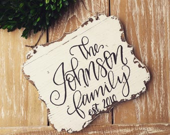 Personalized Family Sign, Family Sign, Personalized Sign, Family Established Sign, 8x10