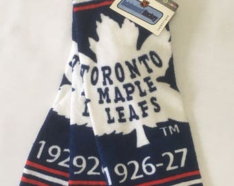Toronto Maple Leafs Pack of 3 Vintage Faceclothes / Flannel