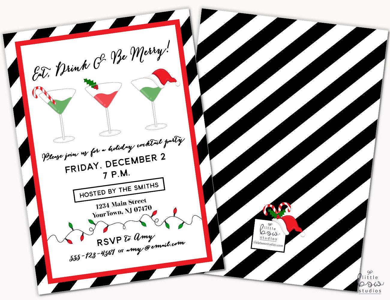 Holiday Party Invite, Christmas Party Invitations, Personalized ...