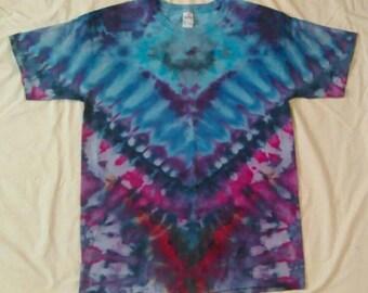 Large Ice Tie Dye Gildan Ultra Cotton T-shirt