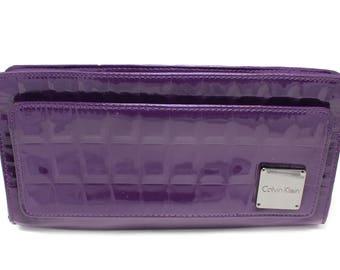 Vintage Purple Calvin Klein Clutch Purse