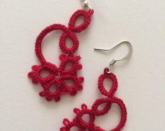Tatted Earrings - the Sally