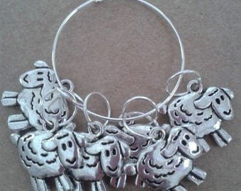 Sheep Stitch Markers (Pack of 6) by WoollyKits