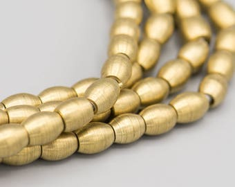 88 Matte Brass Barrel Spacer Beads 7x6mm with 2mm Hole
