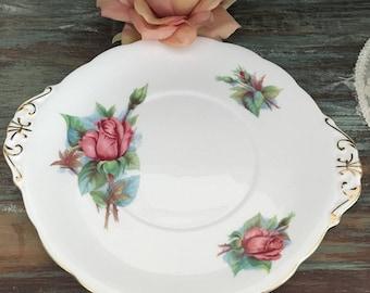 Beautiful Royal Standard fine bone china cake plate / world famous roses signed  Harry wheatcroft