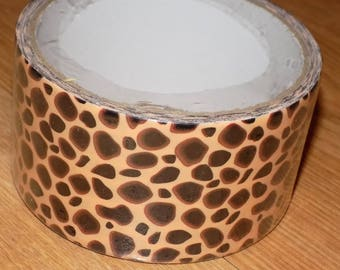 Unused Roll of Animal Print Unknown Brand Duck Tape-type Woven Tape
