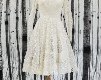 Summer Sale SOPHIA- Genuine Vintage 1950s Wedding Dress