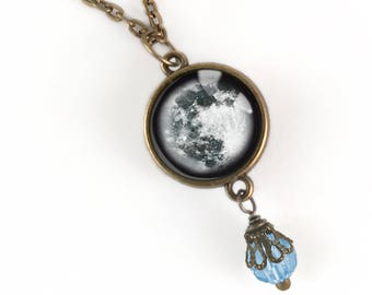Blue Moon Pendant Necklace