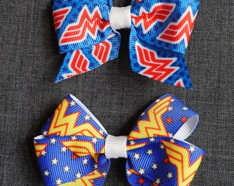 "Wonder Woman Inspired 3"" Hair Bow/Clip Set - DC Comics"