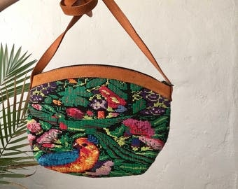 Embroidered Leather Purse