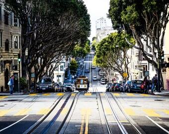 San Francisco Streets - Trams - San Francisco Trams - Fine Art Photography Print -San Francisco Photography - Street Photography