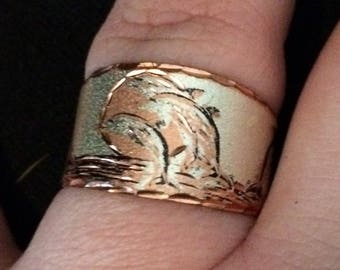 Vintage Dolphin Adjustable Dolphin Ring