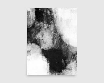 Black & White Scandinavian Print, Minimalist Abstract Print, Black and White Wall Art, Abstract Wall Art, Framed Art Prints