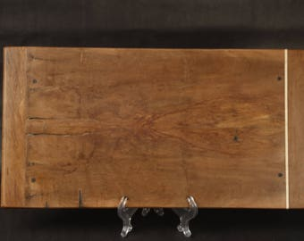 Rustic Brazilian Recycled Hardwood Serving Tray.  Book-matched figurative cratewood with a clean-Urban Rustic look Item T-R198