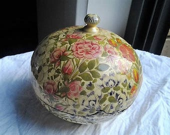15% off Handcrafted Paper Mache Bowl with Lid