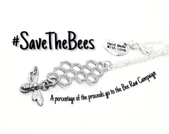 SALE Save The Bees Necklace