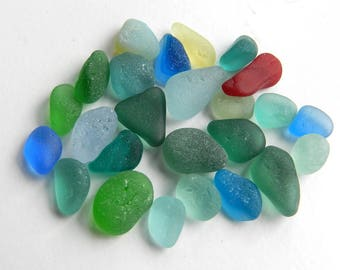 Small Bright English Sea Glass Pieces for Rings and Earrings