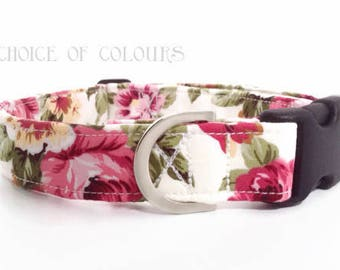 Floral Dog Collar | Rose Dog Collar | Girl Dog Collar | Dog Collar | Floral Dog Collar | Small Dog Collar | Big Dog Collar|Puppy Collar