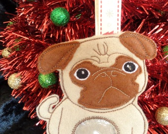 Pug Christmas Treat Hanger