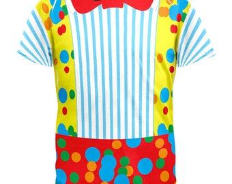 Halloween Clown Costume All Over Adult T-Shirt