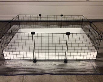 2x4 bottom 2x2 top cc guinea pig cage 14x14 wire for Plastic bin guinea pig cage