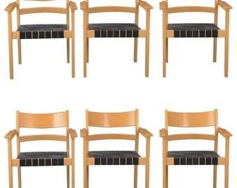 Set of Six Hans J. Wegner Armchairs GE881