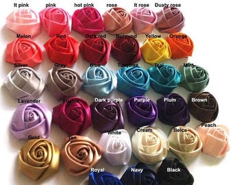 40% OFF WHOLESALE Satin Roses Satin Rosettes Vintage Roses Wedding Roses Flowers Beautiful Rolled Satin Rosettes Embellishments Wedding Acce