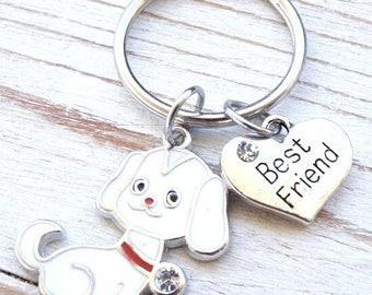 Dog Keychain, Best Friend, Doggie keychain, Dog tag, Doggie tag, dog