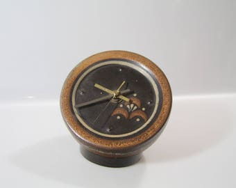 Pretty clock by KMK,    WGP, West German Pottery, Keramikmanufaktur Kupfermühle
